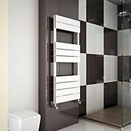 Carisa Monza Electric White Towel warmer (H)1190mm (W)500mm