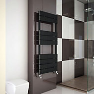 Carisa Monza Black Towel warmer (H)1190mm (W)500mm