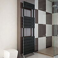 Carisa Monza Black Towel warmer (H)1590mm (W)500mm