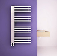 Carisa Gradient Electric Towel warmer (H)1000mm (W)500mm