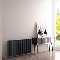 Carisa Barkod Horizontal Designer radiator Anthracite (H)550 mm (W)1010 mm