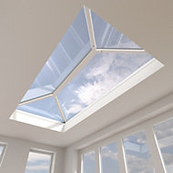 Crystal Grey Aluminium & PVC Roof lantern, (L)3m (W)1.5m (H)453mm