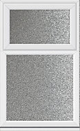 Crystal Obscured Double glazed White uPVC Top hung Casement window, (H)1040mm (W)905mm