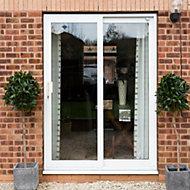 Crystal Double glazed White uPVC LH Sliding Patio Door, (H)2090mm (W)1790mm