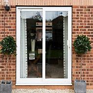 Crystal Double glazed White uPVC RH Sliding Patio Door, (H)2090mm (W)1790mm