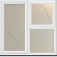 White PVC-U Top opening & side hung L/H Casement window (H)1190mm (W)1190mm