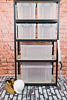 Really Useful Clear 84L Plastic Storage box