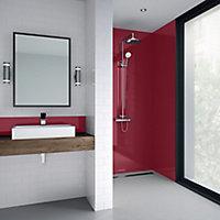 Splashwall Rose Shower Panel (H)2440mm (W)900mm (T)4mm