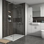 Splashwall Matt Stained pine Shower Panel (H)2420mm (W)1200mm (T)11mm
