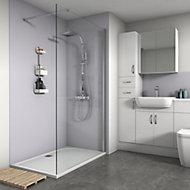 Splashwall Matt Lavender Shower Panel (H)2420mm (W)900mm (T)4mm