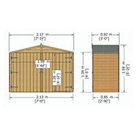 Overlap Apex roof Wooden Bike store