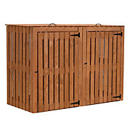 Shire Double Wooden Wheelie bin store