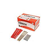 Corefix Metal & plastic Dot & dab wall fixings, Pack of 24