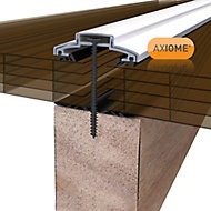 Axiome Bronze effect Polycarbonate Multiwall Roofing sheet (L)2m (W)690mm (T)25mm