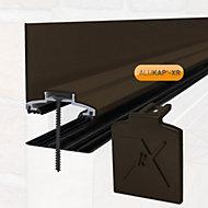 Alukap XR Brown Aluminium Glazing bar, (L)3m (W)60mm (T)70mm