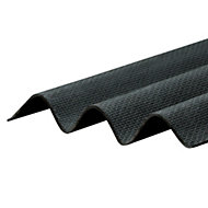 Corrapol-BT Black Bitumen Corrugated Roofing sheet (L)2m (W)930mm (T)2mm