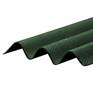 Corrapol-BT Green Bitumen Corrugated Roofing sheet (L)2m (W)930mm (T)2mm