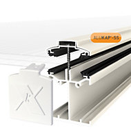 Alukap SS White Aluminium Low profile Glazing bar, (L)4.8m (W)60mm (T)90mm