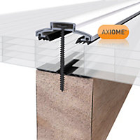 Axiome Opal effect Polycarbonate Multiwall Roofing sheet (L)2.5m (W)690mm (T)25mm
