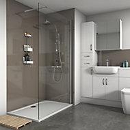 Splashwall Hessian Gloss 2 sided shower wall kit