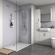 Splashwall Matt Lavender 2 sided Shower Panel kit (L)1200mm (W)1200mm (T)4mm