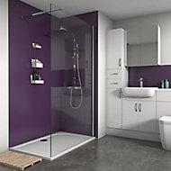 Splashwall Violet Matt 3 sided shower wall kit