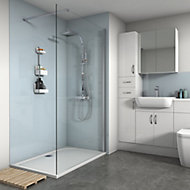 Splashwall Gloss Pale blue 2 sided Shower Panel kit (L)1200mm (W)1200mm (T)4mm