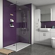 Splashwall Violet Matt 2 sided shower wall kit