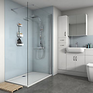 Splashwall Gloss Pale blue 3 sided Shower Panel kit (L)1200mm (W)1200mm (T)4mm