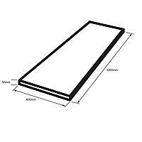 50mm Designer Black Laminate Square edge Kitchen Worktop, (L)3000mm