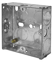 LAP 25mm Steel Knockout box, Pack of 10