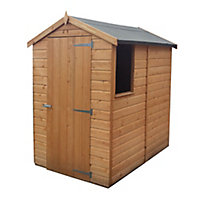 Shire Shetland 6x4 Apex Shiplap Wooden Shed (Base included) - Assembly service included
