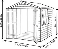 Shire Alderney 7x7 Apex Shiplap Wooden Shed - Assembly service included