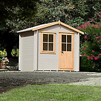 Shire Hartley 8x6 Apex Tongue & groove Wooden Cabin - Assembly service included
