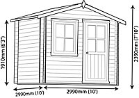 Shire Hartley 8x6 Apex Tongue & groove Wooden Cabin (Base included) - Assembly service included