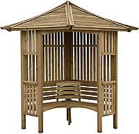 Blooma Solway Softwood Corner arbour