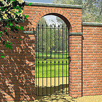 Blooma Steel Spear top Gate, (H)1.8m (W)0.81m