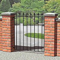 Blooma Steel Spear top Gate, (H)0.93m (W)0.81m