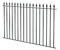 Spear top Black Fence, (L)1810mm