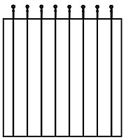 Blooma Steel Ball top Gate, (H)0.9m (W)0.81m