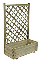 Grow your own Pale green Wooden Rectangular Planter 90cm