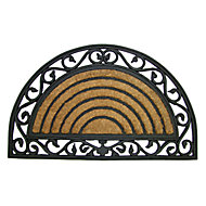 Diall Black & natural Coir Door mat (L)750mm (W)450mm