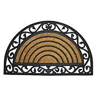 Diall Black & natural Coir Door mat (L)0.75m (W)0.45m
