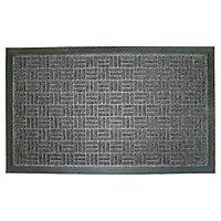 Diall Grey Door mat (L)0.75m (W)0.45m