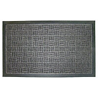 Diall Grey Door mat (L)0.75m (W)0.45m