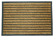 Diall Dominator Maxi Black & natural Coir Door mat (L)0.9m (W)0.6m