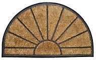 Diall Half moon Black & natural Coir Door mat (L)0.75m (W)0.45m