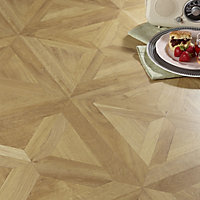Colours Staccato Natural Oak parquet effect Laminate flooring, 1.86m² Pack