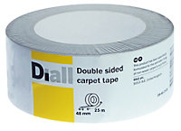 Diall White Double sided carpet tape (L)25m (W)48mm