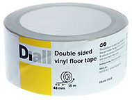 Diall White Double sided vinyl flooring tape (L)15m (W)48mm